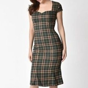 NWT Modcloth Dancing Days Tartan Wiggle Dress